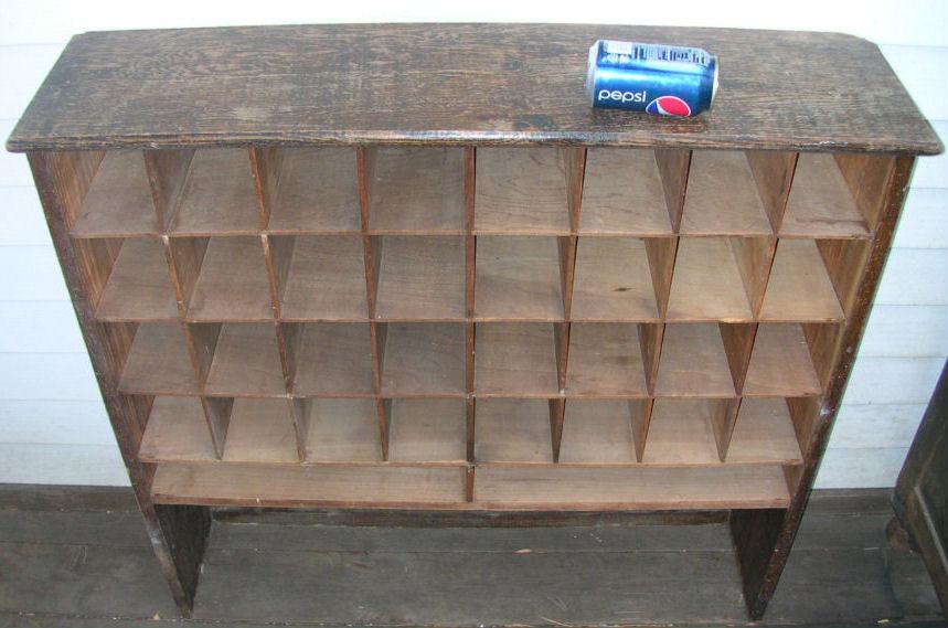 Antique Vintage Oak Post Office Mail Cabinets Cupboards