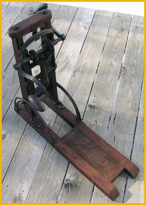 Antique Post Beam Drill Press Bore Auger Wood Cast Iron Ebay