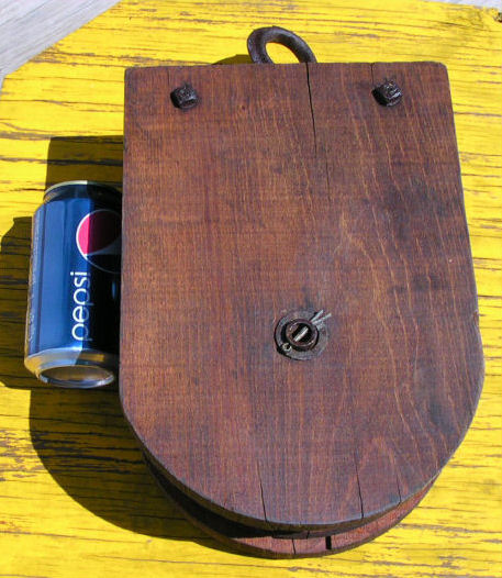 Antique Wood & Iron Farm Pulley