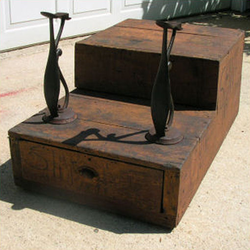 antique trap vintage large shoe shine stand box folk art farm free