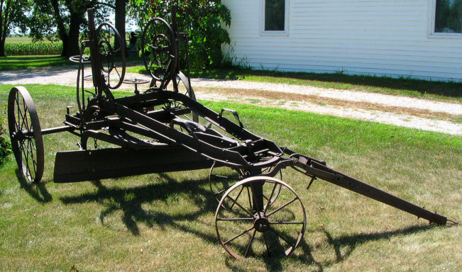 Riches For Less: Antique Western Wheeled Scraper Co  Road Grader