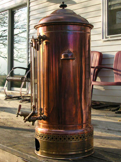 Riches For Less: Antique Copper & Brass Coffee Urn